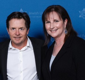 Nov 5_me and Michael J Fox at JUF Vanguard Dinner